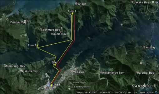 Waka ama map